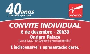 40 Anos- convite individual