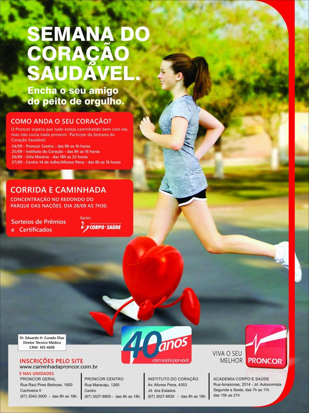 Semana do Coração Saudável-banner/panfleto