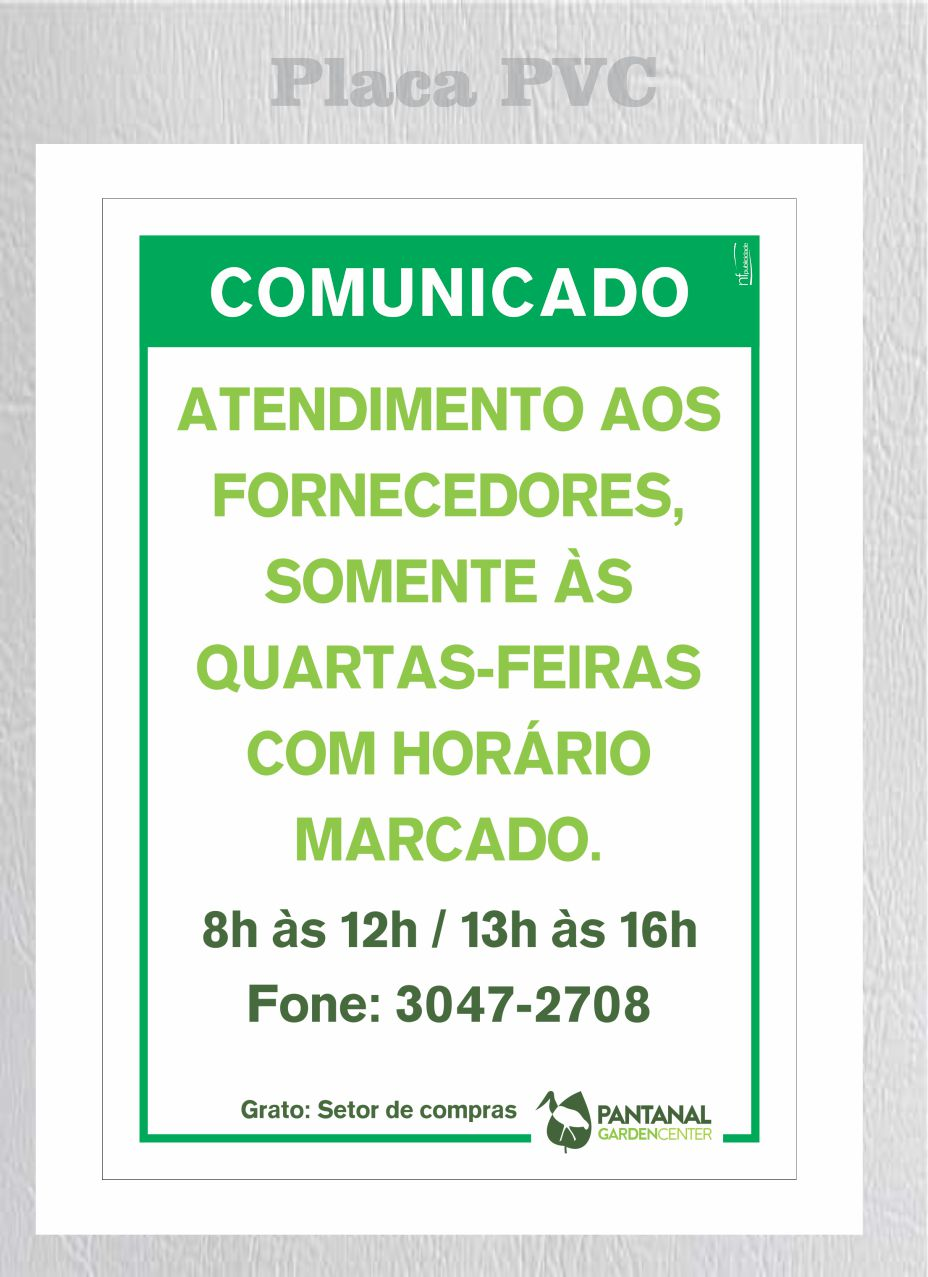 Pantanal pvc comunicado
